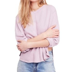 Free People Be Good Drop-Shoulder Sweater (Lilac)